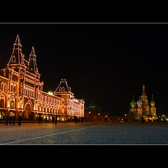 Red Square (JannaPham) Tags: winter red church night canon gum square landscape eos evening russia moscow centre project365 40d 50365 jannapham