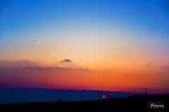 plain (Sherwan™) Tags: blue sunset red sun yellow photoshop nikon flickr raw quality pixels erbil arbil 18105 sherwan d90 nikond90 کوردستان کورد nikond90club