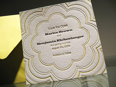 Coterie Save the Date - Closeup 1