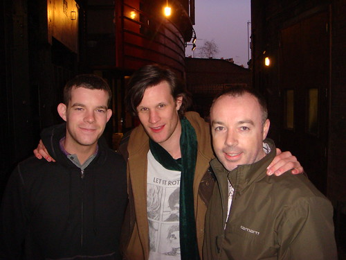 Me, Matt Smith and Russell Tovey