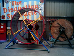Human sized hamster wheel