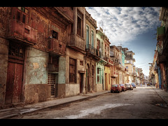 Walking the streets of Havana (Kaj Bjurman) Tags: streets cars clouds canon buildings eos havana cuba streetlife 5d rough 2009 havanna hdr kuba kaj mkii markii bjurman