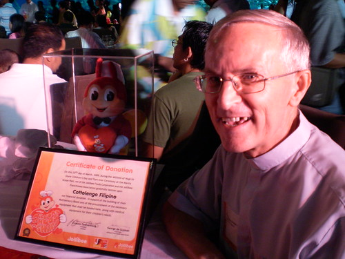 "Fr. Ortega of Cottolengo Filipino. ""With Jollibee's help, we will be able to ..."