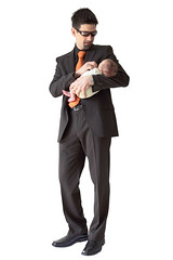 21st Century Male Role Model (Prozac74) Tags: family boss baby reflection male sunglasses ego tie advertisement business suit getty hugo onwhite showoff oakley gettyimages fullsize rolemodel canonef1635mmf28liiusm canoneos5dmarkii prozac09