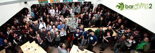 Gruppenfoto der Barcamp-Teilnehmer