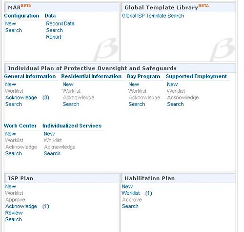 beta version of Medication Administration Records in Therap 8.1.