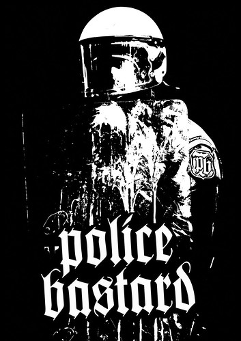 Justice for Ian Tomlinson - Police Bastard Artwork European Tour 2009 Large