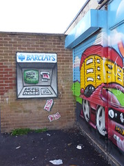 Barclays Bank ATM (lydia_shiningbrightly) Tags: streetart money youth graffiti community cash coventry atm cashmachine youthcentre barclaysbank housingestates thura tilehill jype