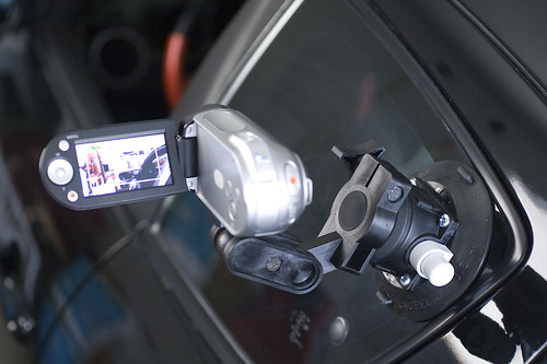 Videocam mount for car