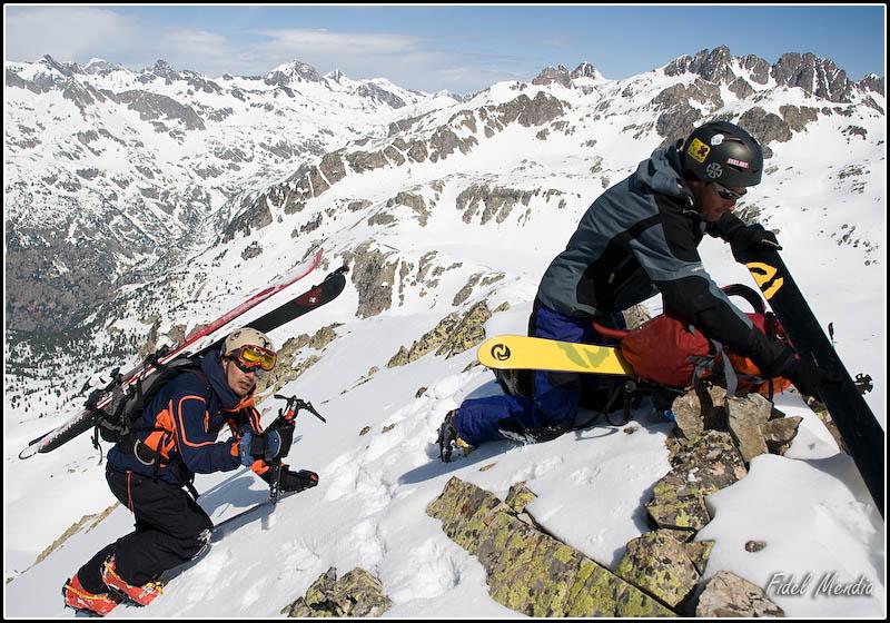 Andoni llegando arriba de la norte del Tablato