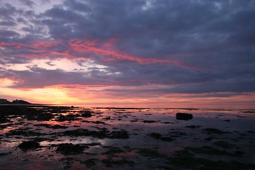 Coucher de soleil à St Aubin sur Mer, Calvados