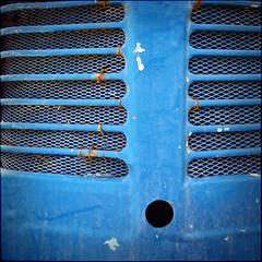 (Katerina.) Tags: blue lines metal rust vivid 500x500 linescurves haphazart haphazartblue haphazartmetal haphazartsquare