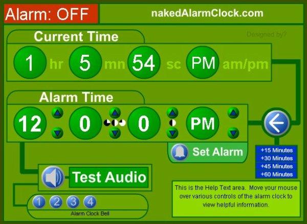 Naked Alarm Clock