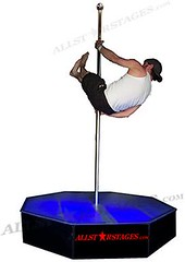 5x5 ft. octagon All Star Stages & Pole