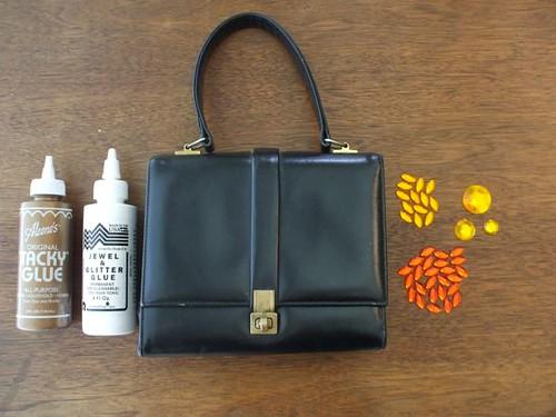 materials for the handbag project