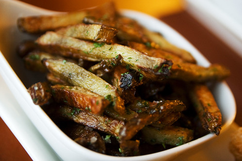 baked fries with garlic