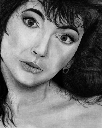 kate bush portrait illustration