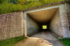 Tunnel Vision (@richlewis) Tags: light canon germany dark deutschland eos graffiti hill entrance gimp tunnel hdr herrenberg photomatix sigma1020mmf456exdchsm 450d