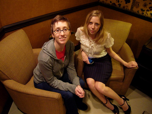 Melissa Gira and me - MySpace-esque photo