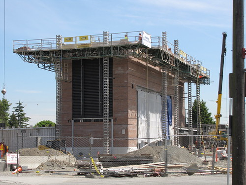 Beacon Hill light rail station, closer to completion
