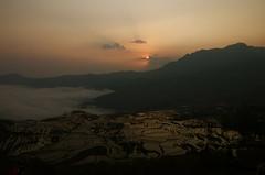 China, sunrise, Yuanyang 1 (skcapture) Tags: china sunrise nikon raw d70s yunnan yuanyang f13 1125tokina16mm