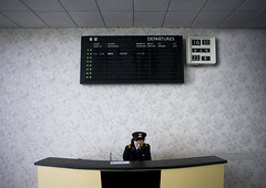 Pyongyang airport North Korea (Eric Lafforgue) Tags: pictures photo airport war asia flight picture police korea billboard kimjongil depart asie vol tableau coree departures aeroport northkorea pyongyang dprk coreadelnorte kimilsung nordkorea 6821 lafforgue    coredunord coreadelnord  northcorea coreedunord  insidenorthkorea  rpdc  coriadonorte  kimjongun coreiadonorte