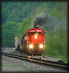 Western New York & Pennsylvania #636 (Cooks Forest) Tags: driftwoodpa cnr alco canadiannationalrailway qcm nysw wnyp westernnewyorkpennsylvaniarailroad cartierrailway newyorksusquehannawesternrailway quebeccartierminingrailroad alcom636 httpcooksforestnet