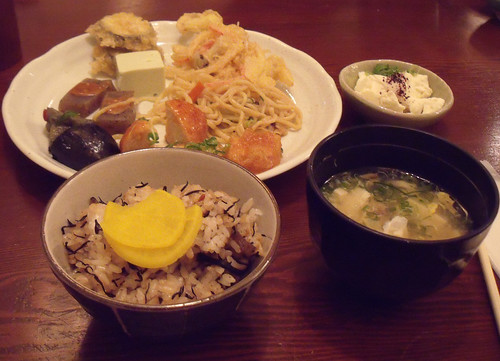 Main dish and some side things at Mame no Hatake