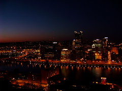 North side of the Monongahela at dusk from Grandview Avenue