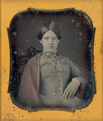 Girl in red cape (Mirror Image Gallery) Tags: victorian daguerreotype tinteddaguerreotype