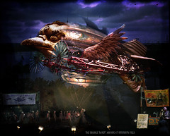 The Dirigible Raven Arrives at Innsmouth Field in Color (crowolf) Tags: ma daily airship loc libraryofcongress crows raven dirigible departing steampunk manray fauxvintage corvids innsmouth dirigibles svf crowolf strangevintagefictionsincolor crowolfiantomfoolery avamsculpture thedirigibleraven aetherkraken innsmouthfield krakenwatching
