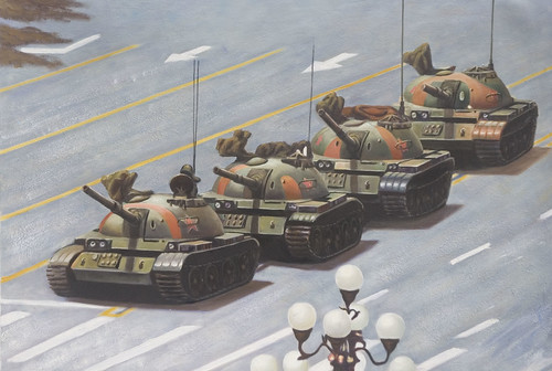 Tiananmen Square: You can add the person to painting when you get it.