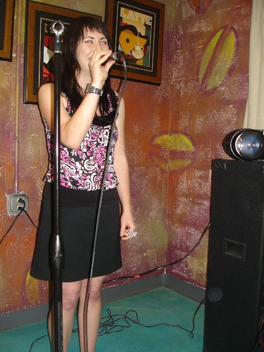 Sarah Bucknam, the host of Gregorios Open Mic night