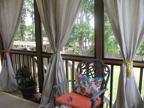 Curtains Ideas curtains for screened in porch : Drop cloth curtain tutorial for the screened in patio - Unskinny Boppy