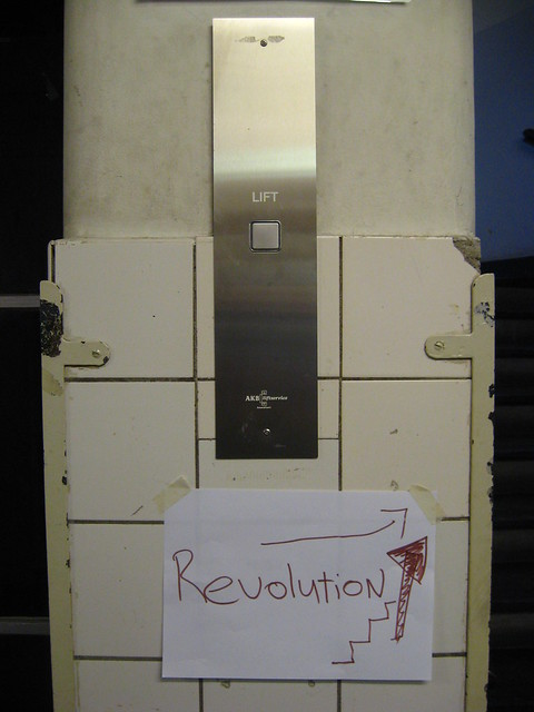 The revolution will take the stairs