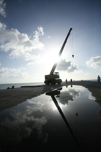 Mkoani port crane
