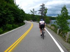 We ride north along Spofford Lake