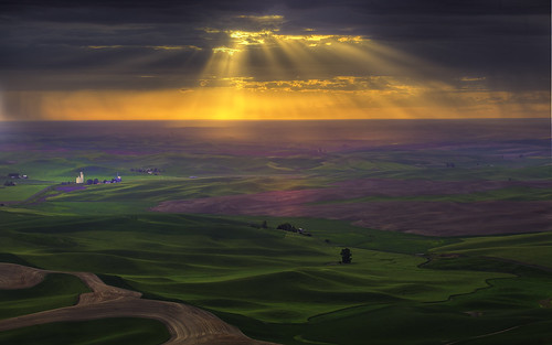 Burst Of Light In The Palouse by kevin mcneal