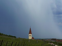 Clocher de Ammerschwihr sur fond d'orage... (Philippe Haumesser Photographies) Tags: sky france church nature landscape alsace paysage vignes elsass twop kartpostal the4elements mbpictures