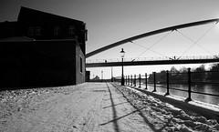Winter in Maastricht (Michel.Saive) Tags: street bridge snow maastricht icy maas winterday hoeg brogk