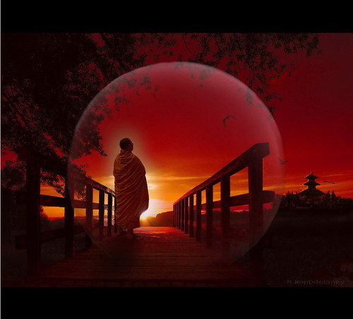 Buddha is a Bridge by h.koppdelaney.