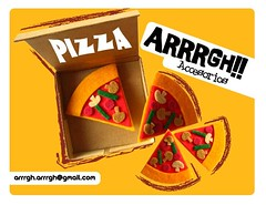Pizzas! (ARRRGH!!) Tags: food cute art kids illustration children fun design dinosaur drawing pizza pines accesorios prendedores arrrgh broches hechosamano
