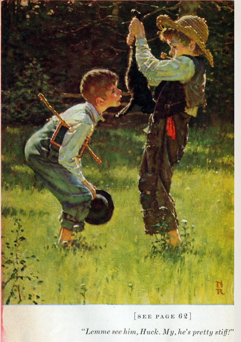 today s inspiration norman rockwell s tom sawyer part  norman rockwell s tom sawyer part 1