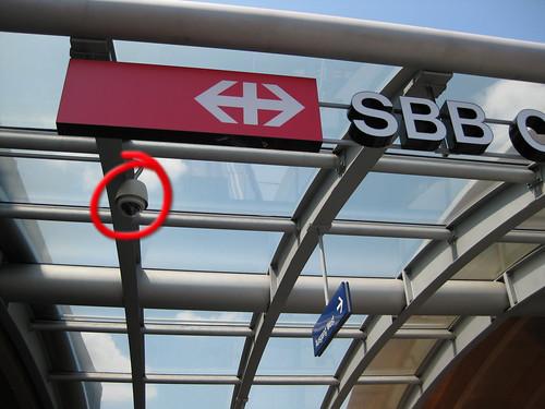 Videokamera Bahnhof Bern, Ausgang West