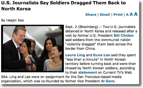 Bloomberg: U.S. Journalists Say Soldiers Dragged Them Back to North Korea