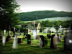 They Yet Live... (Joana Rojas - still here) Tags: halloween cemetery graveyard dead spirits ghosts hillside otherside catholiccemetery swohio sharingart