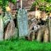 Tombstones in Starý Židovský Hřbitov, Praha