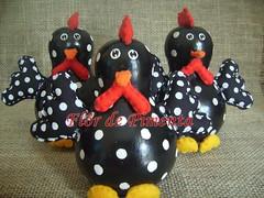 Animais4 (Atelier Flor de Pimenta) Tags: feltro tecido galinhas cabaa decoradas