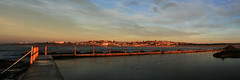 Early Morning swim (mezuni) Tags: ocean panorama pool sunrise dawn tidalpool oceanpool northcurlcurl