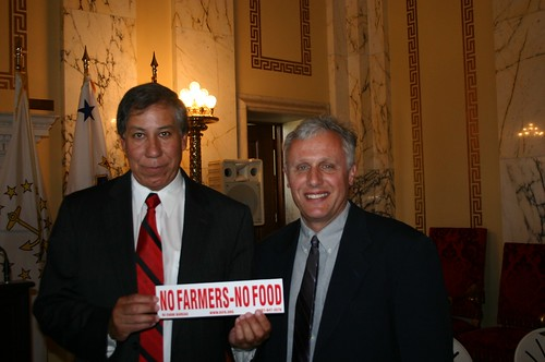 Under Secretary Edward Avalos with Kenneth Ayars, Chief of the Rhode Island Division of Agriculture, DEM at the recent Rhode Island Agriculture Day event.